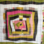Walking Foot Quilting on Freeform Medallion