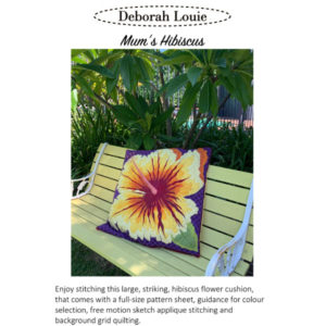 Mum's Hibiscus Cushion
