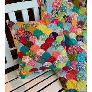 Covid Clams Quilt and Cushion Design by Deborah Louie