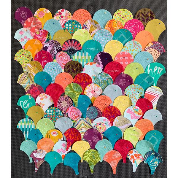 Covid Clams Quilt Design by Deborah Louie